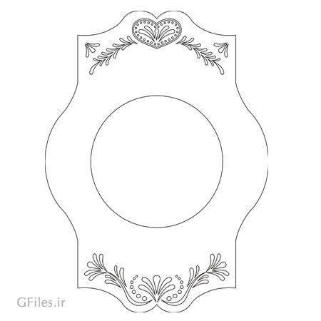 دانلود طرح تزئینی قاب آیینه مناسب برای برش لیزر یا cnc