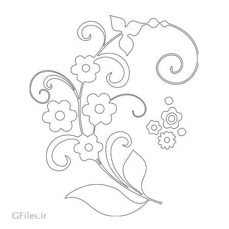 دانلود طرح تزئینی گل جهت برش لیزر یا سی ان سی و حک