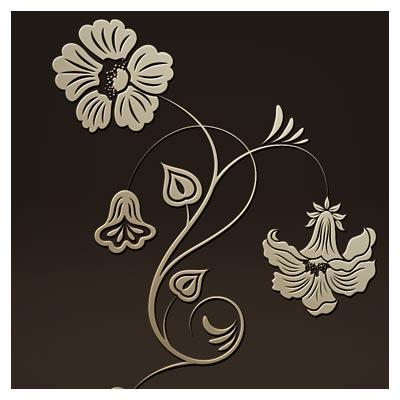 طرح گل تزئینی جهت برش لیزر یا سی ان سی