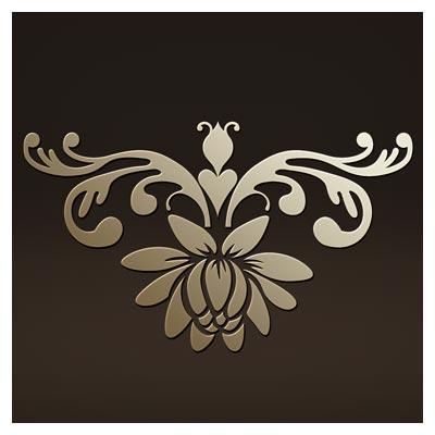 طرح گل تزئینی مناسب برای برش لیزر یا cnc و حکاکی