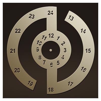 طرح ساعت دیواری فانتزی برای لیزر یا cnc