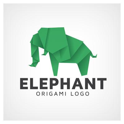 آرم و لوگوی آماده ببر اوریگامیلوگوی وکتور فیل اوریگامی (لایه باز با فرمت ai و eps)